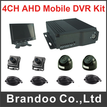 1080P and 1080N 4CH SD H.264 Car Mobile DVR Kit Support HDMI Output