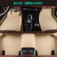 Car Floor Mats For Renault Fluence 2009 2017 Foot Carpets pad mat Step Embroidery Leather Car Interior Mats heavy duty carpet
