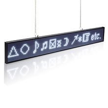14inch EU/UK/US Plug Programmable Led Scrolling Sign Board White Color Hanging For Store Display Russian/Spanish Message
