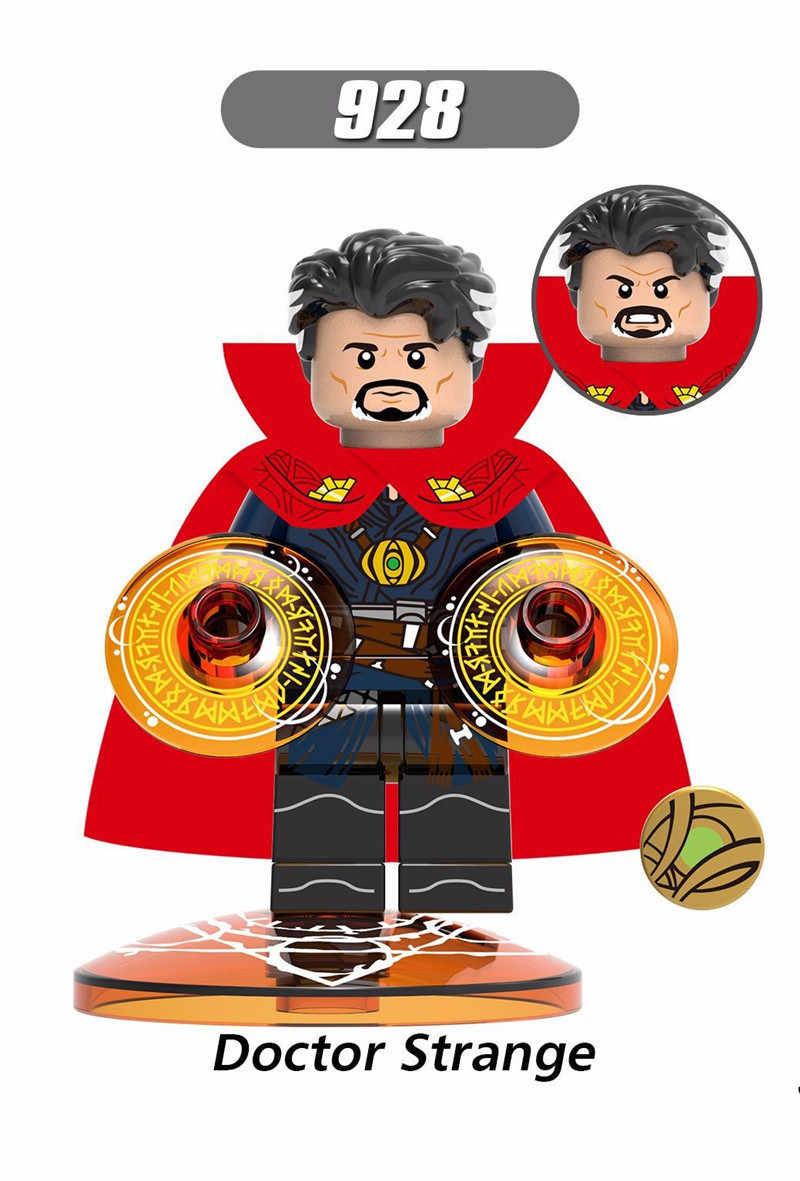 סופר גיבורי מארוול הנוקמים באטמן דמויות פעולת איש ברזל רופא מוזר דגם אבני בניין צעצועים לילדים