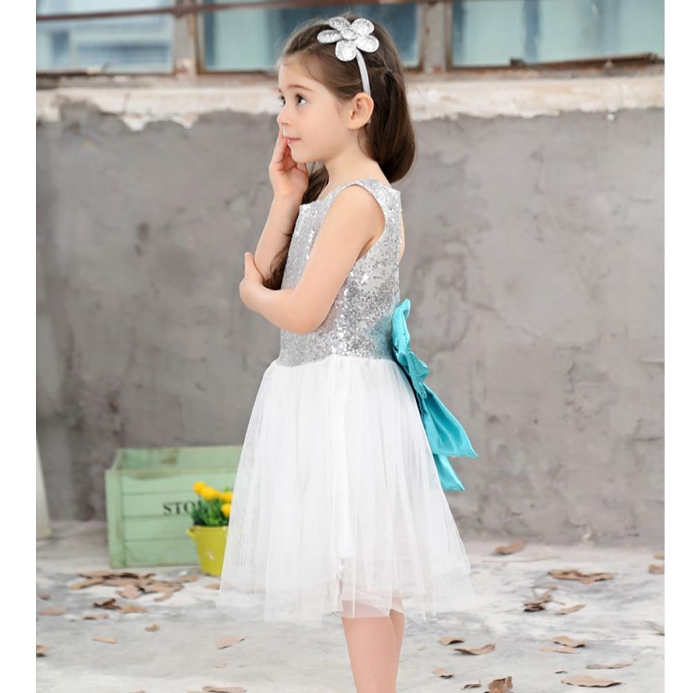 Tulle Ball Sleeveless Dress Sequins Princess Children Baby Girl ...