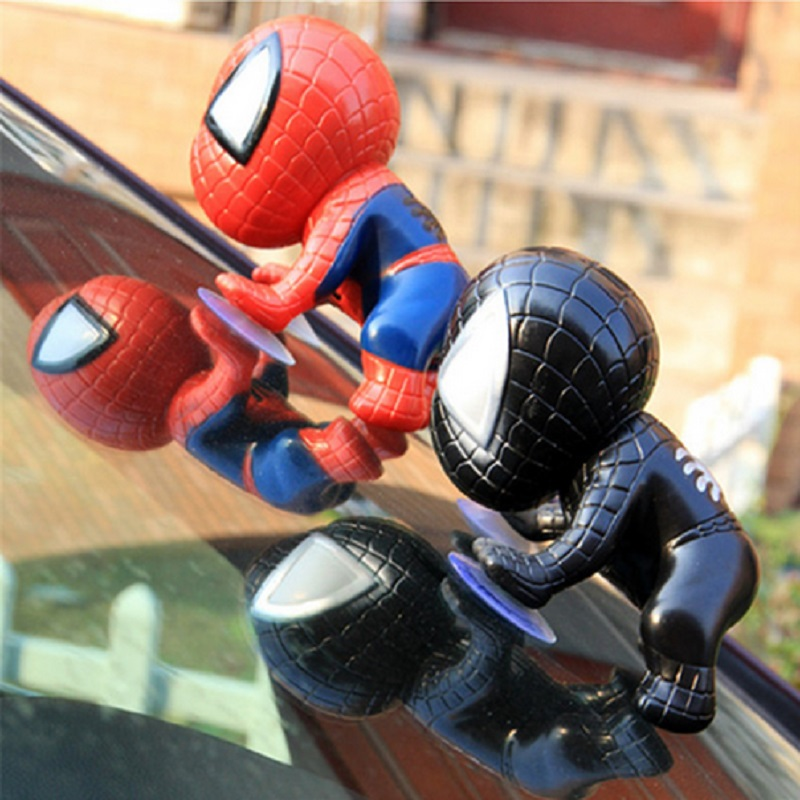 Climbing Spiderman Window Sucker Action Figure Spider Man Toy for Spider-Man Doll Car Home Interior Decoration Head Rotatable пластилин spider man 10 цветов