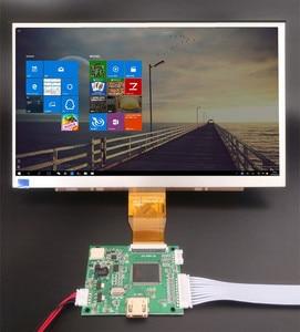 Monitor tft de tela lcd de 10.1 polegadas 1024*600, com placa hdmi para controle remoto, raspberry pi banana pi
