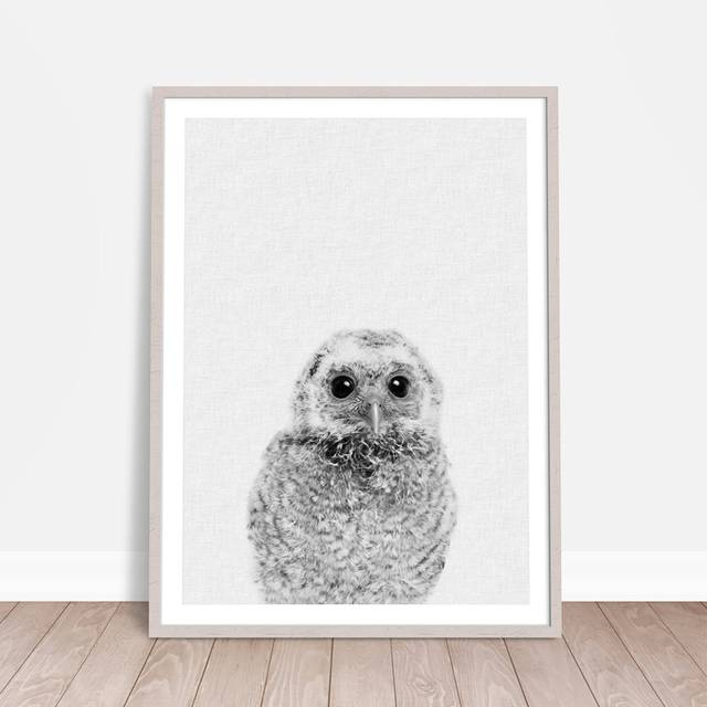 Us 2 57 20 Off Nursery Animal Decor Baby Owl Canvas Art Print And Poster Cute Painting Wall Picture Room Kids In