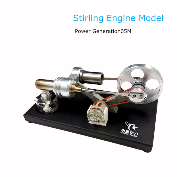 Stirling Engine Model Complete Metal Structure With Generator Novelty Gift New Energy Green Gift v4 model stirling engine generator set