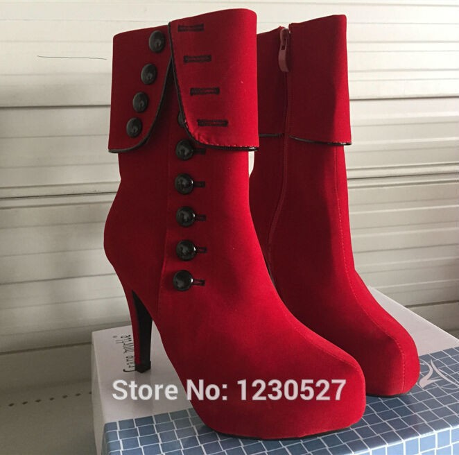 b7d17a1b729b Women Ankle Boots High Heels 2016 Fashion Red Shoes Woman Platform ...