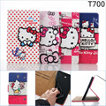 Fashion Cute Kitty pu leather Wallet card stand holder cover case for Samsung Galaxy Tab S 8.4 T700 T705 + screen film