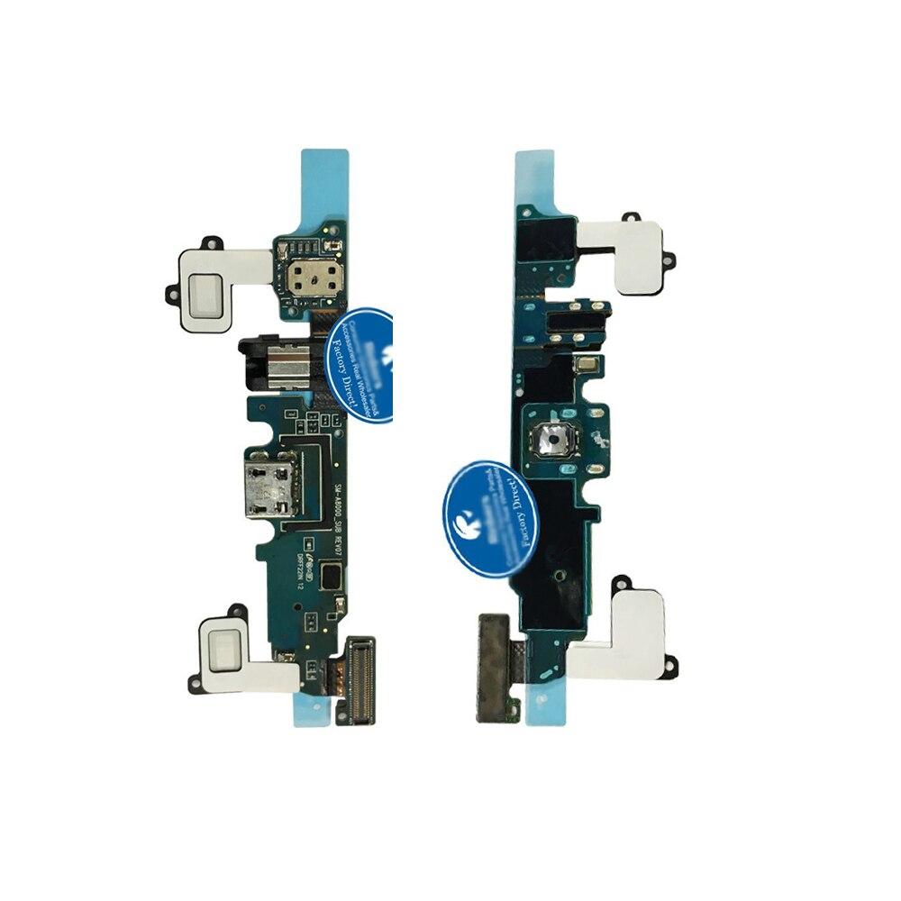 Оригинальный Кнопка меню Сенсор шлейф для Samsung Galaxy A8 a800f с Audio Jack разъем наушников
