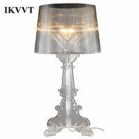 IKVVT Modern Acrylic Desk Lamp Simple Personality Studyroom Lighting Restaurant Bedroom Office Table Lamp for Home Decorative