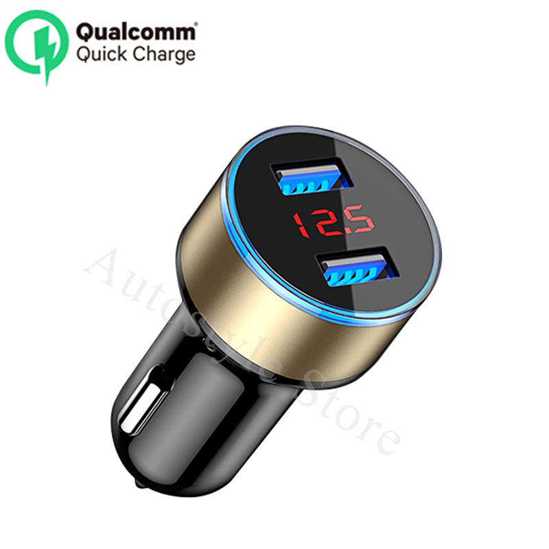Quality Lovely Car Charger 5v 3.1a With Led Display Universal Dual Usb For Chevrolet Camaro Captiva Sport Cargo Van Cavalier Celebrit Chevy Excellent In