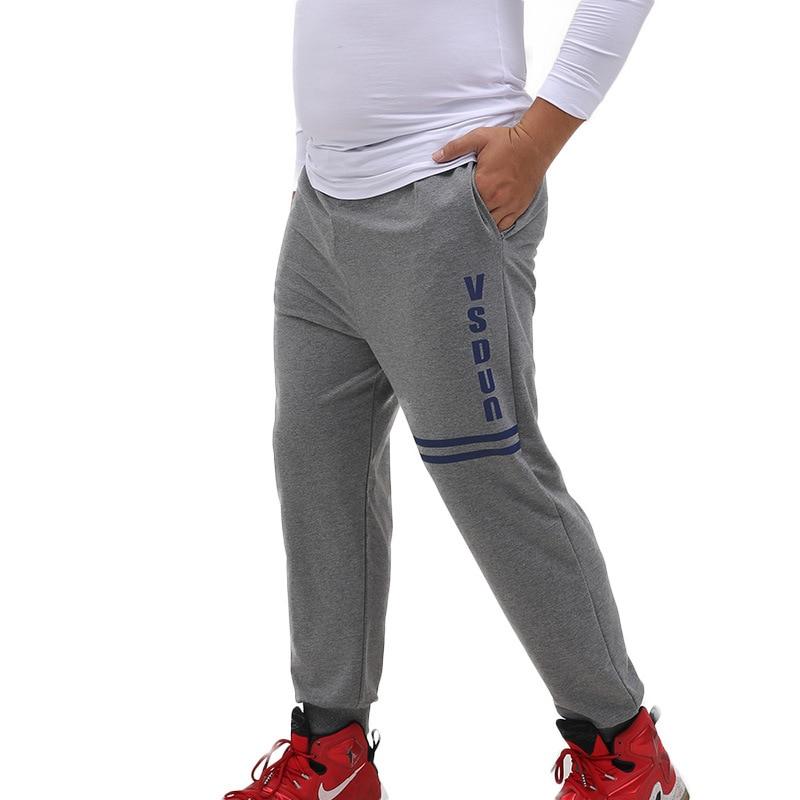 2017 spring autumn mens cotton pants sweaterpants fashion Elastic waist print loose casual pants trousers plus size 6xl 7xl 8XL