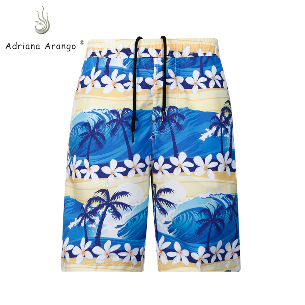 Adriana Arango 2019 New Men's Beachwear Cool   Board     Shorts   Quick Dry Water Sport Swim Trunks Summer Beach   Shorts   Coconut Print
