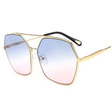 87cffee904490 Polígono Quadrado Sem Aro dos óculos de Sol Das Mulheres De Luxo do vintage  Óculos de Sol Designer de Marca Feminina Gradiente ó.