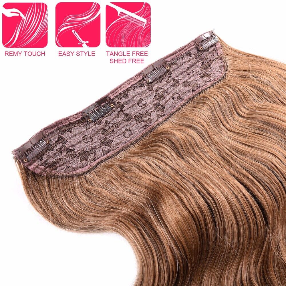 Silike 190g 24 tums sträckt vågig klämma i syntetiska - Syntetiskt hår - Foto 4