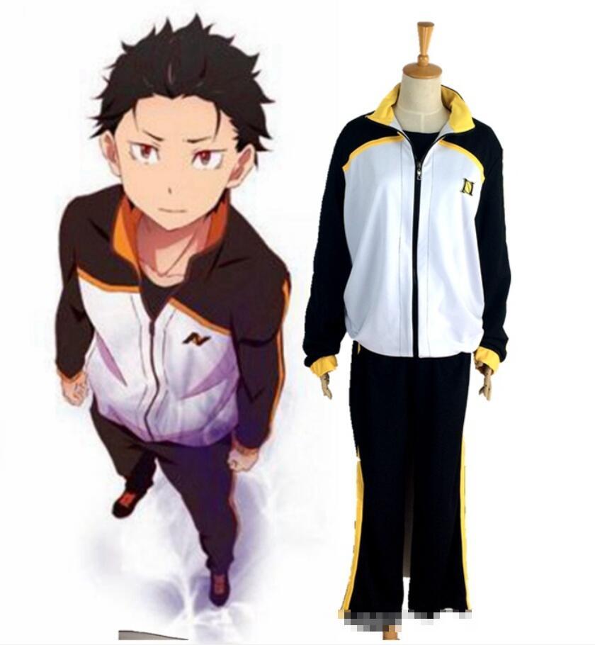 Re:Zero kara Hajimeru Isekai Seikatsu Subaru Natsuki Cosplay Costume Sportswear
