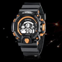 Military Sport Watch Children Top Brand Luxury Famous Electronic LED Digital Wrist Watch Clock For Child Relogio Masculino Stude(China)