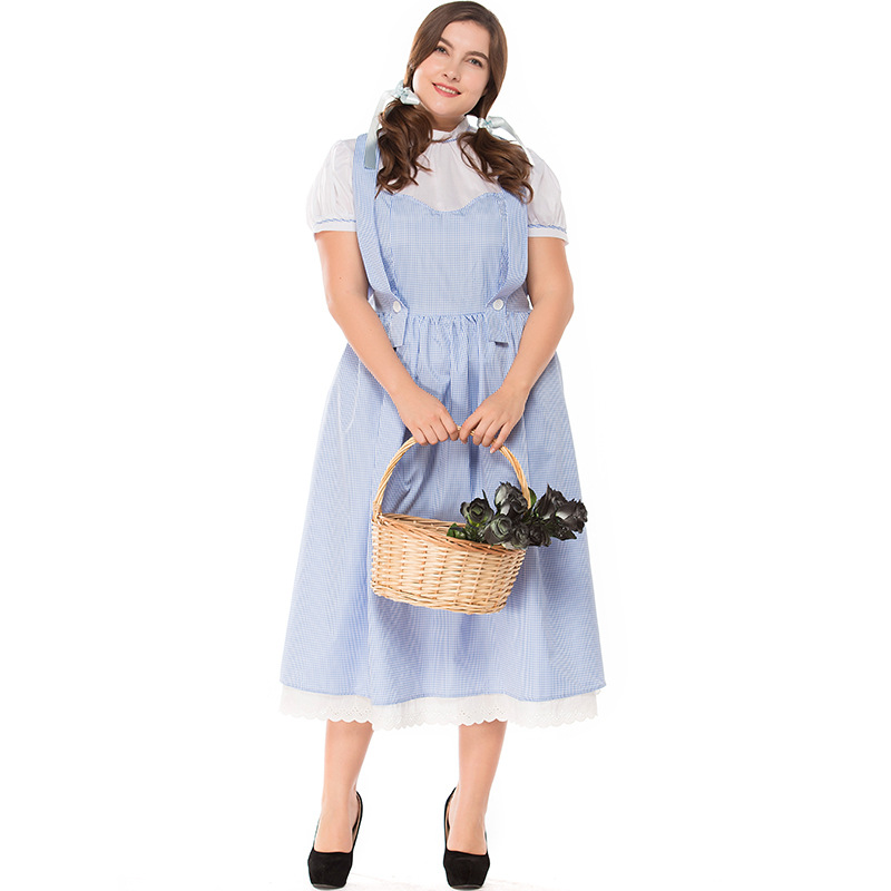 Umorden Adult Dorothy Wizard of Oz Dress Costume Plus Size XXXL Women Halloween Classic Costumes Cosplay