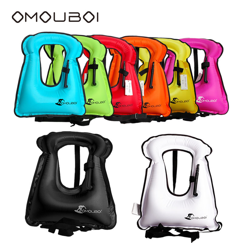 Free Shipping Water Sports Safety Life Vest Light Weight Floating Jacket Durable Inflatable Swimming Vest For Adult By OMOUBOI