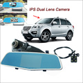 "For lifan X60 x50 Car Rearview Mirror Video Recorder Car DVR FHD 1080P Dual Camera Novatek 96655 5"" IPS Screen Car Parking DVR"