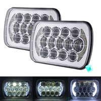 5X7 inch 105W h4 LED HEADLIGHT BULB 7x6 inch headlamp DRL for Jeep Wrangler YJ XJ truck FLD 50 60 70 80 Firebird Celica 240SX