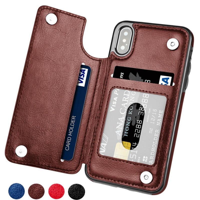 KISSCASE PU Leder Fall Für iPhone 7 8 X XS Max XR Klassische Vintage Fällen Für iPhone 7 8 6 6 S Plus 5 5 S SE X Zurück Cover Capinhas