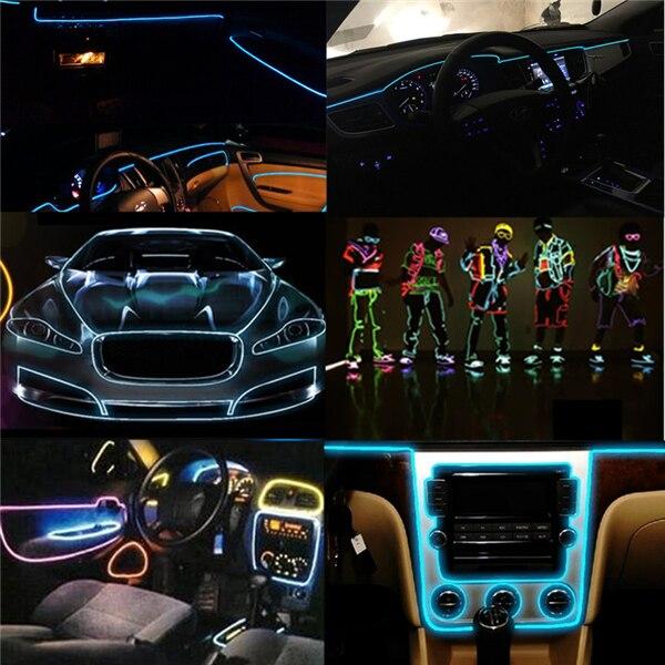 Купить с кэшбэком 5V USB Neon TV Lights Dance Party Car Decor Light Neon LED lamp Flexible EL Wire Rope Tube Waterproof LED Strip