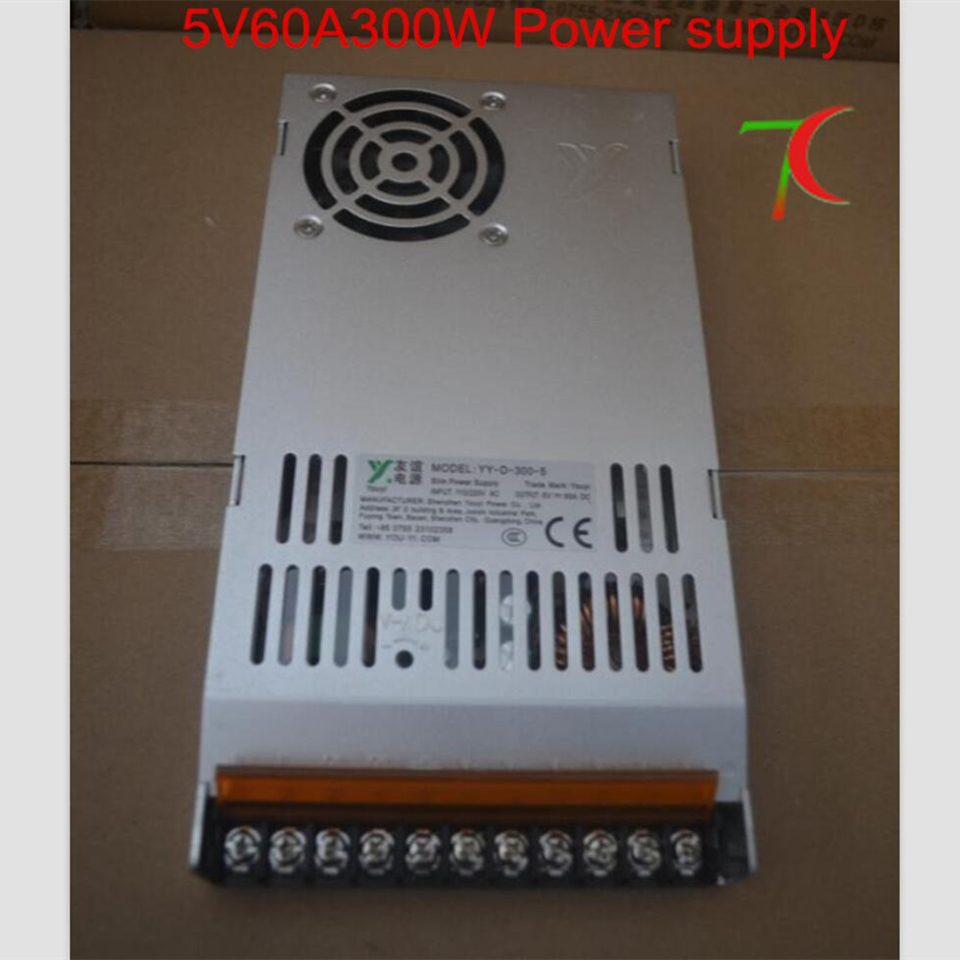 5V60A 300W  convertibles witch power  supply 110v/220v with fan for led modules