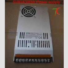 СВЕТОДИОДНЫЙ дисплей специальный источник питания, 5V60A 300 Вт кабриолетов ведьма питания 110 В/220 В с вентилятором для светодиодных модулей