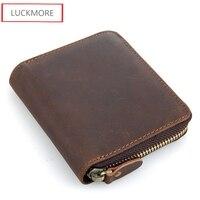 Super Multifunction Zipper Wallets For Men Genuine Leather Fashion Casual Design Short Room Purse Men S