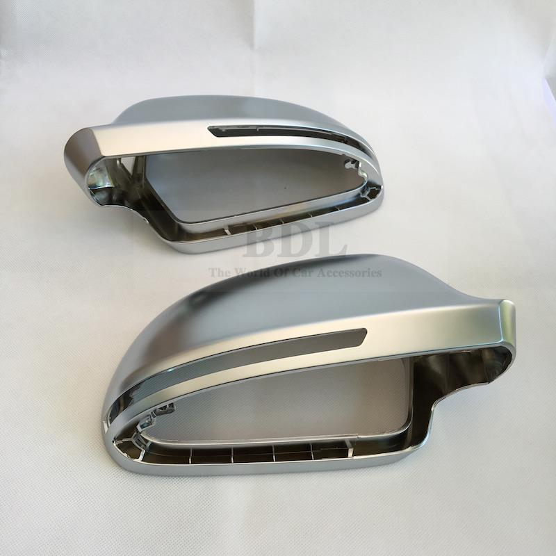 Image 3 - BODENLA Matt Chrome Mirror Cover Rearview Side Mirror Cap S Line Lane Change For Audi A4 B8 A5 8T A6 C6 Q3 A3 8P-in Mirror & Covers from Automobiles & Motorcycles