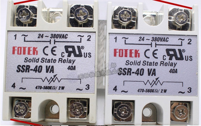 free shipping 2pcs solid state relay SSR-40VA 40A 470-560k ohm TO 24-380V AC SSR 40VA relay solid state Resistance Regulator 25a ac 380v solid state relay voltage resistance regulator w aluminum heat sink