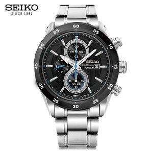Image 2 - 100% Original SEIKO Solar Uhr Mode Trend Business Timing Quarz herren Uhr SSC531J1