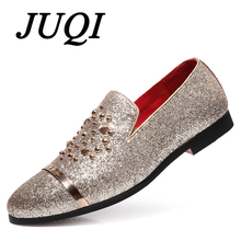 2019 Newest Fashion Luxury Brand Bling Paillette Men Loafers Charming Elegant Party Casual Shoes Handmade Silp-On Dress