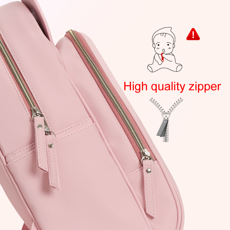 Disney Minnie Diaper Bag Multifunction Backpack Baby Care Stroller Nursing Nappy Bag for Mummy with USB Bottle Insulation Bags