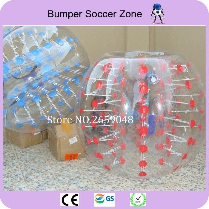 Buen precio 1.5 m Material de PVC Bola de burbuja inflable Burbuja Bola de fútbol Bola de parachoques Alquiler en venta Zorb Bola Fútbol Fútbol