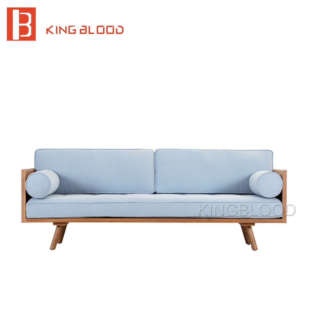 Nice Low Price Modern Nordic Fabric Home Lobby Wooden Sofa Set Design For Space  Saving Apartment Japan Style