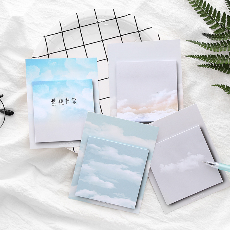 Weather Series Cute Kawaii Memo Pad Sticky Notes Bookmark Post Students Planner Stickers Stationery Office School Supplies