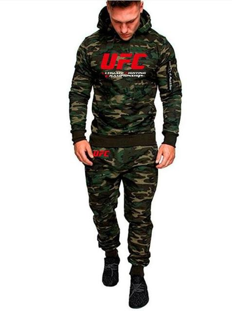c048ec38a428 US $27.94 35% OFF|2018 New Fashion Men Camouflage Sports Set UFC Unlimited  MMA Hoodie Men Hoodie+trousers Sweatshirts Casual UFC Hoodie Coat Tops-in  ...