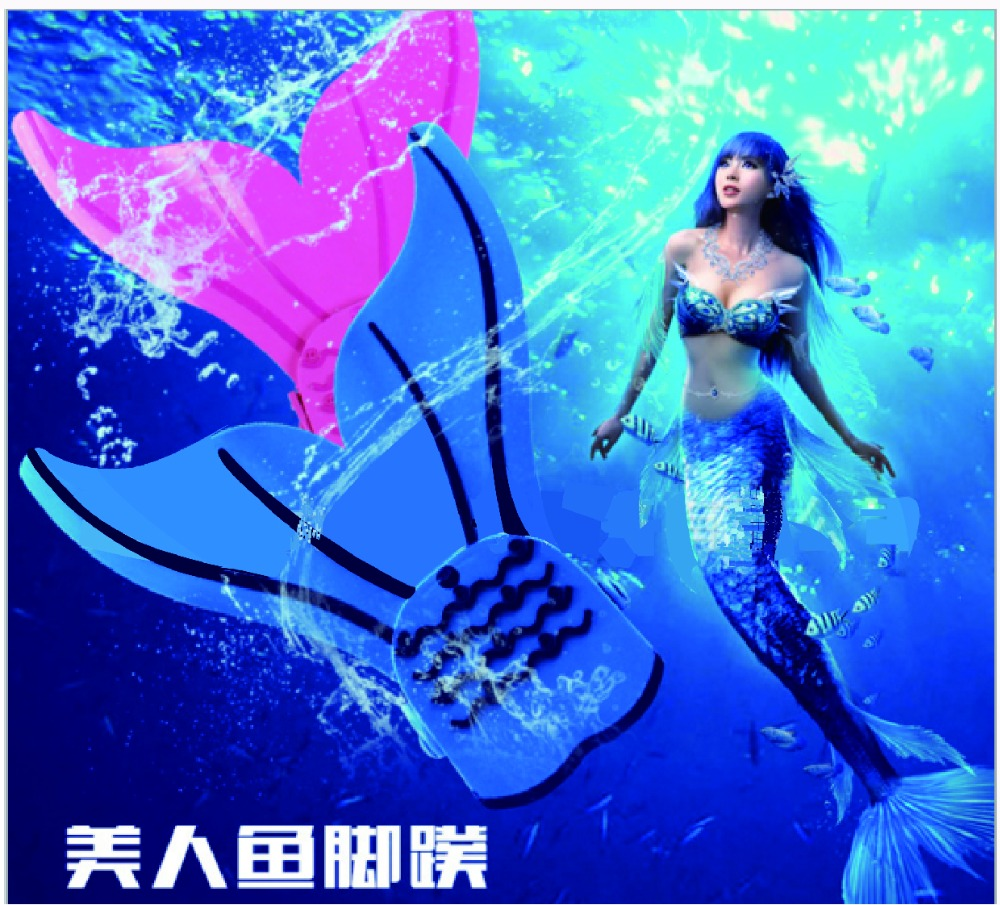 New 2017 Mermaid Tail Monofins Child Girls Mermaid Tail Costume Magic Swimmable Fins Kids Shark Mermaid Tails
