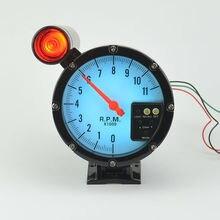 5 дюймов шаговый двигатель Автомобиля Автоматический измерительный прибор тахометр сигнальная лампа 7 цвет подсветки rpm бесплатная доставка