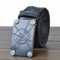 2017 Luxury Genuine first layer of leather belt for men designer belts men high quality strap male metal jeans belt JY004