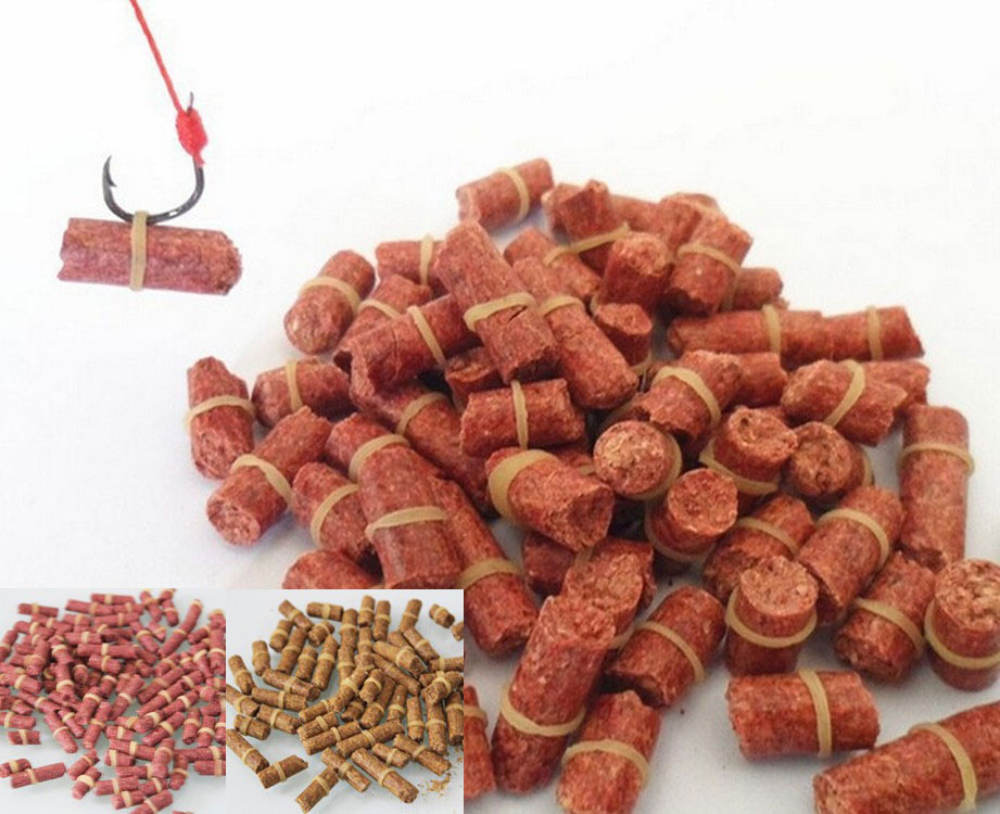 100pcs/bag Red carp fishing bait smell Grass Carp Baits Fishing Baits lure formula insect particle rods suit particle genera