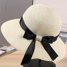 9d175ce7b07 Buy straw hat with ribbon tie and get free shipping on AliExpress.com