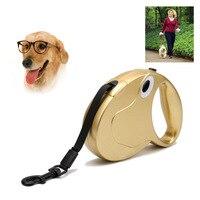 5m Retractable Dog Leash Lead One Handed Lock Training Pet Lead Puppy Walking Nylon Leashes Adjustable