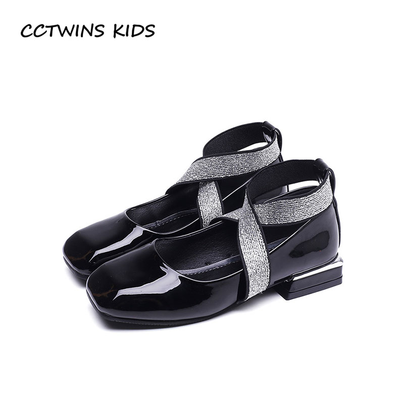 CCTWINS KIDS 2018 Autumn Girl Fashion Princess Party Heel Children Pu Leather Shoe Toddler Brand Mary Jane Baby GH1713 wendywu 2017 spring toddler fashion pu leather mary jane baby girl rhinestone princess ballet children heeled shoe black