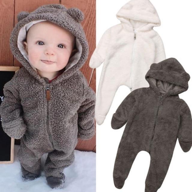 חדש תינוק תינוקת ילד דוב Rompers בגדי סלעית Romper סרבל תלבושת 0-24 M