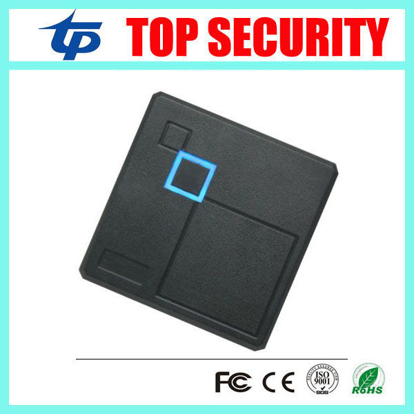 IP65 waterproof RFID card reader 13.56 weigand smart card reader for access control system N80 led light proximity card reader outdoor mf 13 56mhz weigand 26 door access control rfid card reader with two led lights