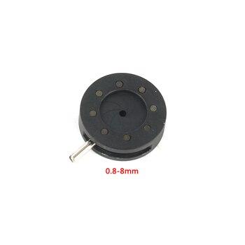 Усилительный диаметр 1-12 мм зум оптический Ирис конденсатор ирисовой Диафрагмы конденсатор 12 лопастей для цифровой камеры микроскоп адапте...