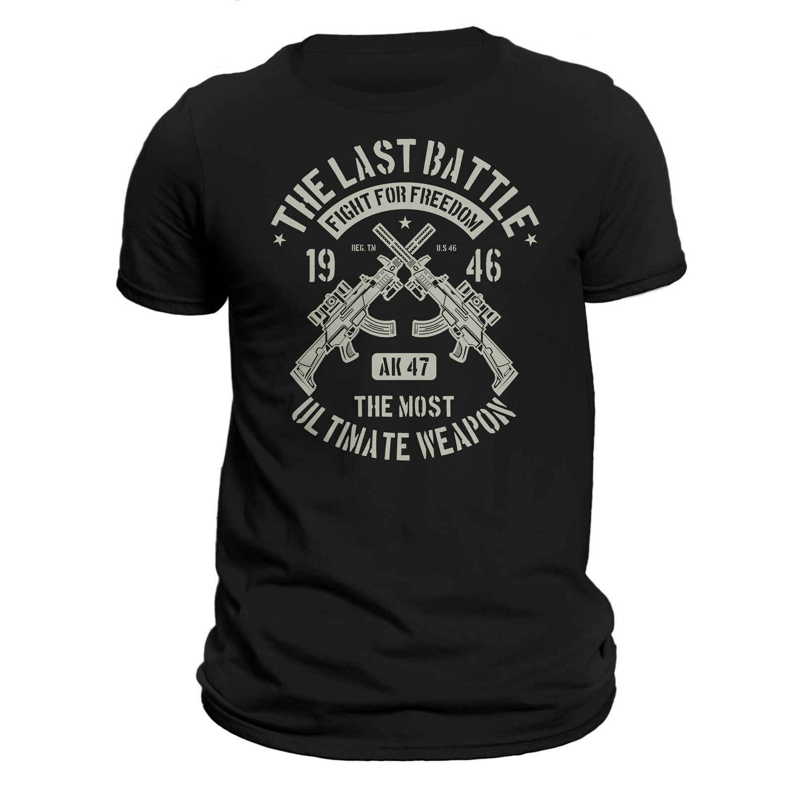 AK 47 Militaire Rifle VS Tactical mannen T-Shirt