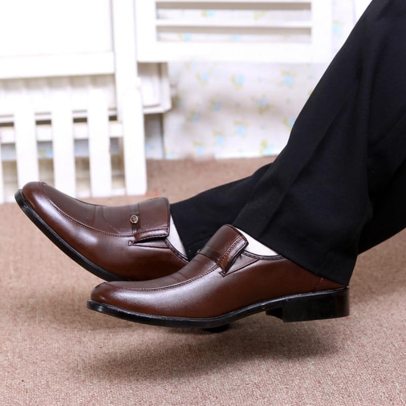 Beautiful 2018 New Fashion Style Designer Formal Mens Dress Shoes Genuine Leather Luxury Wedding Shoes Men Flats Office Shoes Lc5253 Shoes Men's Shoes